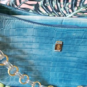 Stubbs & Wootton Bags - STUBBS & WOOTTON Blue Leather Shoulder Bag